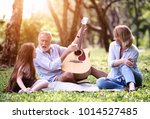 the family is playing the... | Shutterstock . vector #1014527485