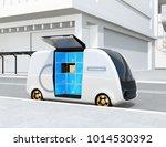 self driving delivery van's... | Shutterstock . vector #1014530392