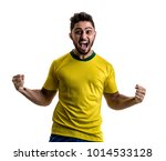 brazilian male athlete   fan... | Shutterstock . vector #1014533128
