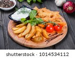 breaded chicken  nuggets with... | Shutterstock . vector #1014534112