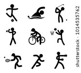 simple sports icon set | Shutterstock .eps vector #1014535762