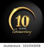 10 years anniversary...   Shutterstock .eps vector #1014543058