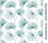 tropical leaves  jungle pattern.... | Shutterstock .eps vector #1014544702
