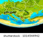 kosovo from orbit of planet... | Shutterstock . vector #1014544942