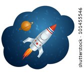vector rocket in space. this...   Shutterstock .eps vector #101455546
