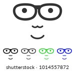 happiness nerd face vector... | Shutterstock .eps vector #1014557872