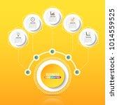 vector infographic template... | Shutterstock .eps vector #1014559525
