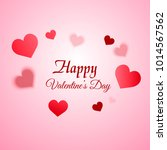 valentine's day greeting card... | Shutterstock .eps vector #1014567562