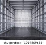 metal trailer interior | Shutterstock . vector #1014569656