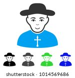 cheerful christian priest... | Shutterstock .eps vector #1014569686