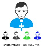 cheerful catholic priest vector ... | Shutterstock .eps vector #1014569746
