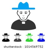 enjoy catholic priest vector... | Shutterstock .eps vector #1014569752