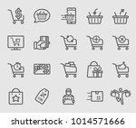 shopping line icon set   Shutterstock .eps vector #1014571666