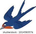 cartoon swallow bird flying | Shutterstock .eps vector #1014583576
