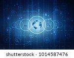 2d illustration network... | Shutterstock . vector #1014587476