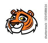 cartoon tiger head | Shutterstock .eps vector #1014588616