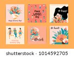 international women's day.... | Shutterstock .eps vector #1014592705