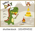 roast day with funny animals... | Shutterstock .eps vector #1014594532
