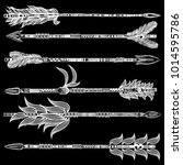 tribal boho arrow set in... | Shutterstock .eps vector #1014595786