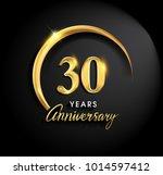 30 years anniversary... | Shutterstock .eps vector #1014597412