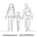 continuous line drawing. happy... | Shutterstock .eps vector #1014598522