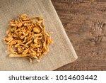 ple of dried cordyceps... | Shutterstock . vector #1014603442