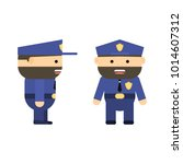 police officer in cartoon style....   Shutterstock .eps vector #1014607312