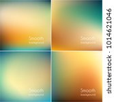 smooth colorful blurry... | Shutterstock .eps vector #1014621046