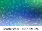 light blue  green vector... | Shutterstock .eps vector #1014621226