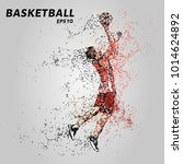 basketball player in red... | Shutterstock .eps vector #1014624892