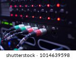 sound system   sound cable on ... | Shutterstock . vector #1014639598