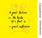a great fortune in the hands of ... | Shutterstock .eps vector #1014639925