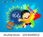 happy holi indian hindu... | Shutterstock .eps vector #1014640012