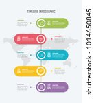 5 options vertical timeline... | Shutterstock .eps vector #1014650845
