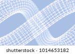 spiral. 3d vector wireframe... | Shutterstock .eps vector #1014653182
