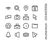 web icons set with search  eye...