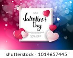 sale valentines day discounts... | Shutterstock .eps vector #1014657445