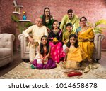 Portrait Of Happy Indian Famil...