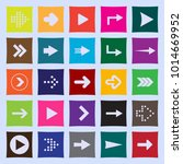 set of twenty five arrows to... | Shutterstock .eps vector #1014669952