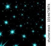 light blue stars black night... | Shutterstock .eps vector #1014673876