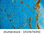 Blue Color Steel Metal Rusty...