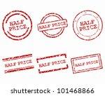 half price stamps | Shutterstock .eps vector #101468866