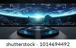 huge blueish landing strip... | Shutterstock . vector #1014694492