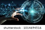 businesswoman on blurred... | Shutterstock . vector #1014694516