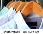 shirts at the dry cleaners | Shutterstock . vector #1014695425
