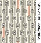 seamless geometric pattern in... | Shutterstock .eps vector #1014695836