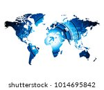 world map graphic on white... | Shutterstock .eps vector #1014695842
