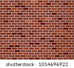 red brick wall seamless ... | Shutterstock .eps vector #1014696922