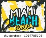 miami beach florida summer... | Shutterstock .eps vector #1014705106