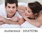 young man turned toward camera... | Shutterstock . vector #101470786